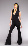 Black Bamboo Katana Jumpsuit - Warrior Within Designs ,Onesie