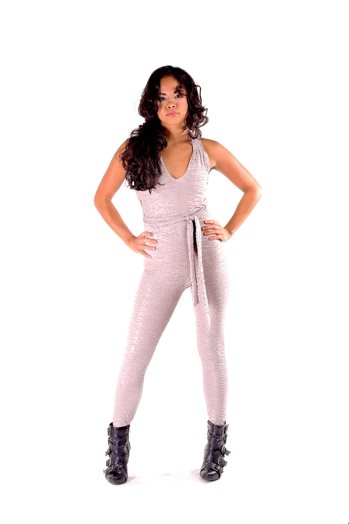 Silver Ruched Tigra Ladyhawke Onesie - Warrior Within Designs ,Onesie