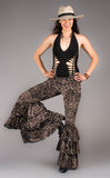 Metallic Lotus Burnout Velvet Pirate Pants - Warrior Within Designs ,Pants