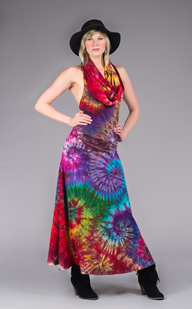 Tie Dye Firebird Gown - Warrior Within Designs ,Dress