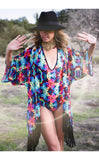 Tie Dye Roses Liberty Bodysuit - Jammin Warrior Collective - Warrior Within Designs ,Bodysuit