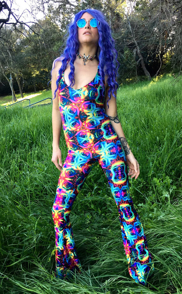 Tie Dye Roses Panther Onesie - Jammin Warrior Collective