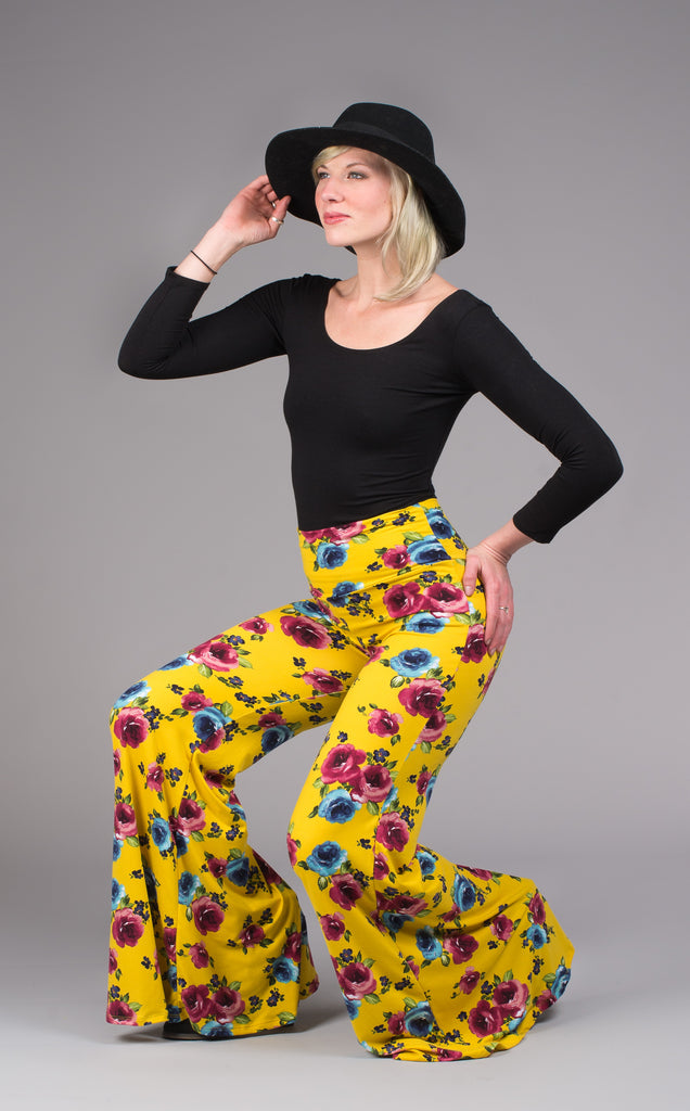 Saffron Flower Big Bells - Warrior Within Designs ,Pants