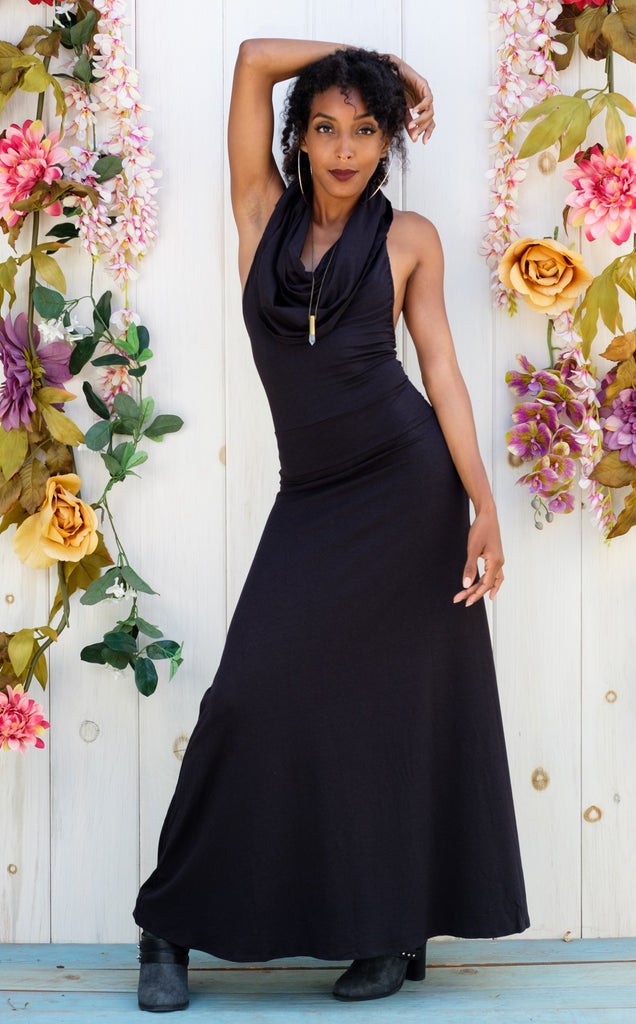 Black Bamboo Firebird Gown