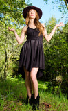 Black Bamboo Pocket Dress