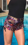 Maple Swirl Velvet Cowgirl Shorts - Jammin Warrior Collective