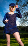Ocean Burnout Sleeved Echo Cinch Dress