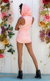 Peach Suede Huntress Cinch Dress