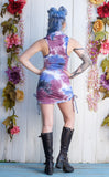 Candy Crush Suede Huntress Cinch Dress