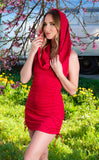 30% Off - Red Suede Huntress Cinch Dress