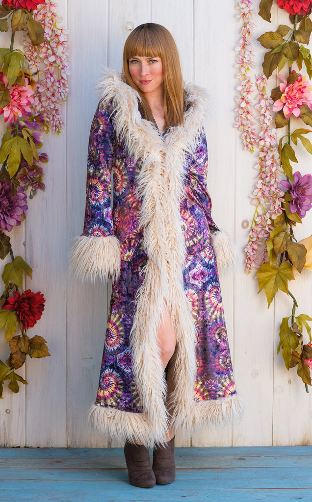 Maple Swirl Baroness Reversible Velvet Coat - Jammin Warrior Collective x Tamo Designs