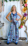 Cyan Liquid Light Velvet Mystique Onesie - Jammin Warrior Collective
