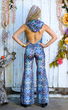 25% Off - Cyan Liquid Light Velvet Mystique Onesie - Jammin Warrior Collective