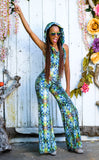 Green Liquid Light Velvet Mystique Onesie - Jammin Warrior Collective