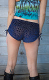 Ocean Burnout Velvet Cowgirl Shorts