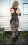 Metallic Lotus Burnout Velvet Panther Ladyhawke Onesie