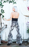 Silver Blossom Burnout Velvet Pirate Pants