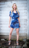 Thunder Sky Suede Firebird Cinch Dress