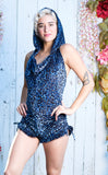 Azul Cheetah Burnout Velvet Mystique Shortsie