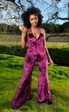 Boysenberry Velvet Tigra Jumpsuit