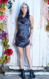 Dark Sky Crush Suede Crush Huntress Cinch Dress