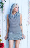 Circus Stripe Bamboo Huntress Cinch Dress