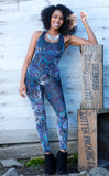 Purple Paisley Burnout Panther Ladyhawke Onesie - Limited Edition Fabric