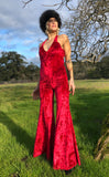 Red Velvet Tigra Jumpsuit