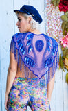Electric Blue Sparkle Capelet
