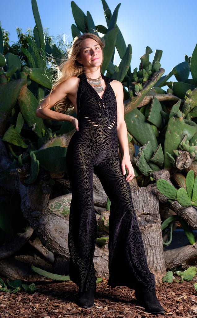 20% Off - SnipTease - Midnight Burnout Velvet Mystique Onesie - Limited Edition