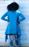 Teal Bamboo Waterfall Cardigan