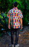 Tie Dye Roses Button Down Shirt - Jammin Warrior Collective