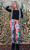 30% Off - Dark Tie Dye Roses Ladyhawke Leggings - Jammin Warrior Collective