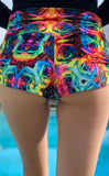 Tie Dye Roses Velvet Cowgirl Shorts - Jammin Warrior Collective