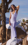 White Crush Velvet Tigra Jumpsuit