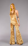Stardust Gold Velvet Mystique Slim Bell Onesie - Warrior Within Designs ,Onesie