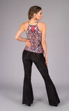 Midnight Burnout Velvet Slim Bells - Warrior Within Designs ,Pants