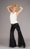 Black Velvet Flow Pants - Warrior Within Designs ,Pants