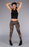 Metallic Lotus Burnout Velvet Ladyhawke Leggings - Warrior Within Designs ,Pants
