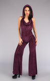 Maroon Burnout Velvet Mystique Onesie - Warrior Within Designs ,Onesie
