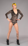 Metallic Lotus Velvet Lyra Bodysuit - Warrior Within Designs ,Bodysuit