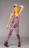 Forest Feather Velvet Panther Ladyhawke Onesie - Warrior Within Designs ,Onesie