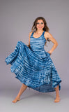 Shibori Indigo Gypsy Dress