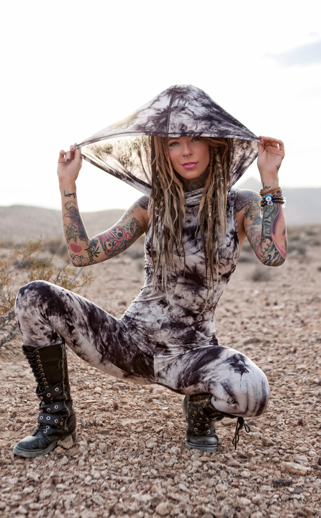 Dark Crush Huntress Ladyhawke Jumpsuit - Warrior Within Designs ,Tight Leg Onesie