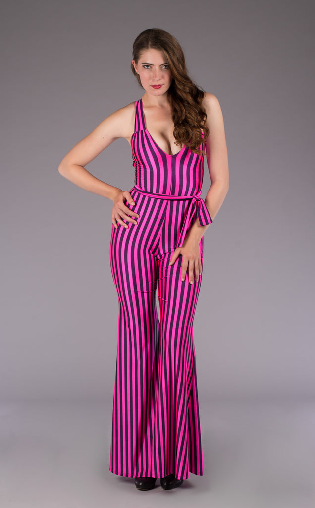 Pink Circus Stripe Tigra Onesie - Warrior Within Designs ,Onesie