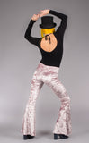 Dusty Rose Velvet Slim Bells - Warrior Within Designs ,Pants