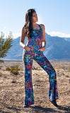Coral Swirl Tie Dye Engineer Slim Bell Onesie - Jammin Warrior Collective