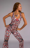 Forest Feather Velvet Panther Pant Jumpsuit - Warrior Within Designs ,Onesie