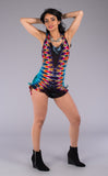 Tie Dye Mystique Shortsie - Warrior Within Designs ,Tie Dye