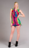 Tie Dye Huntress Cinch Dress - Warrior Within Designs ,Dress